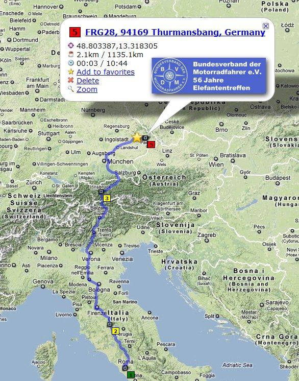 56 ElefantenTreffen. Percorso, mappa generale