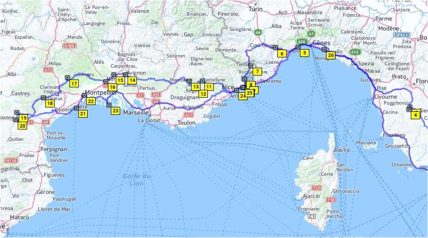 Cartina Stradale Costa Azzurra.Lampada Marmellata Centro Cartina Verdon Francia Amazon Monzacorre It